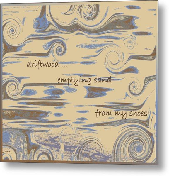 Driftwood Haiga Metal Print