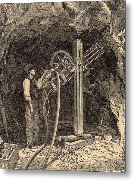 Drilling Machine With Diamond Bit Metal Print by Universal History Archive/uig