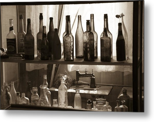 Drink And Sew Metal Print
