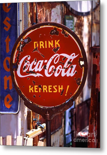 Drink Coca-cola Sign Metal Print