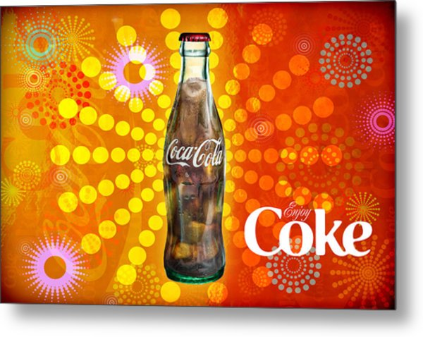 Drink Ice Cold Coke 4 Metal Print