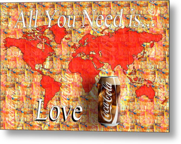 Drink Ice Cold Coke 5 Metal Print