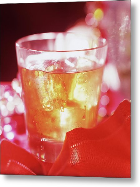 Drink In A Glass Metal Print