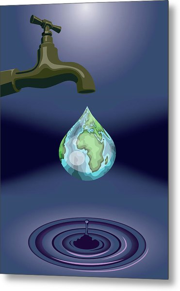 Dripping Tap Metal Print by Fanatic Studio / Science Photo Library