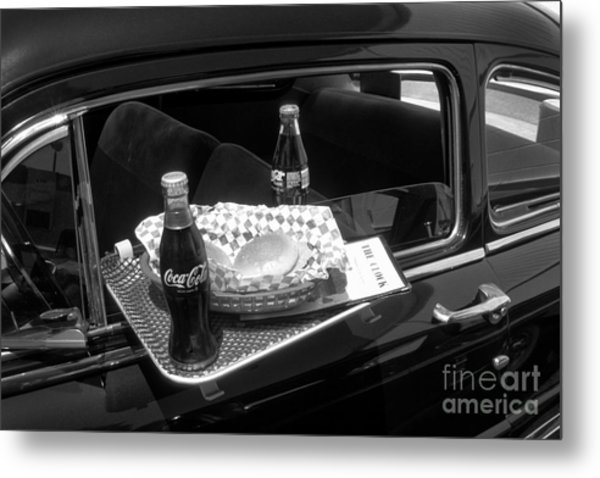 Drive-in Coke And Burgers Metal Print