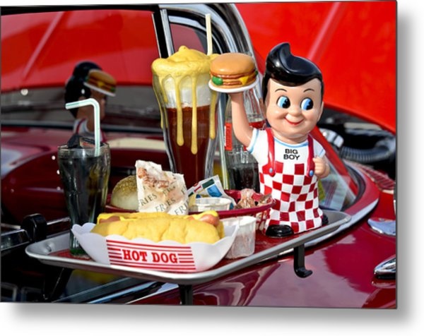Drive-in Food Classic Metal Print