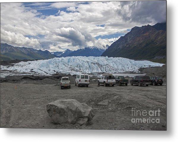 Drive In Glacier Metal Print