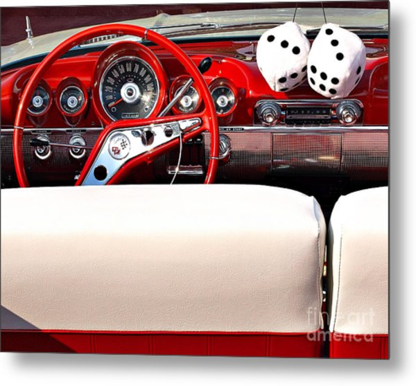 Drive-in Lounge - 1960 Chevy Metal Print