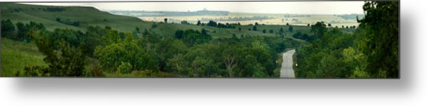 Drive The Flint Hills Metal Print