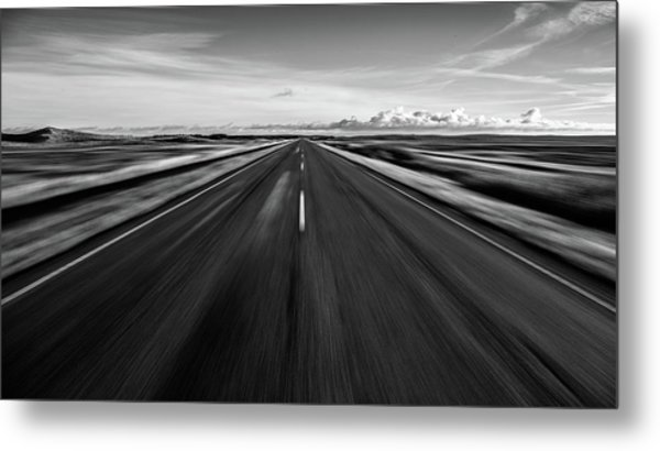 Driving West Coast. Metal Print