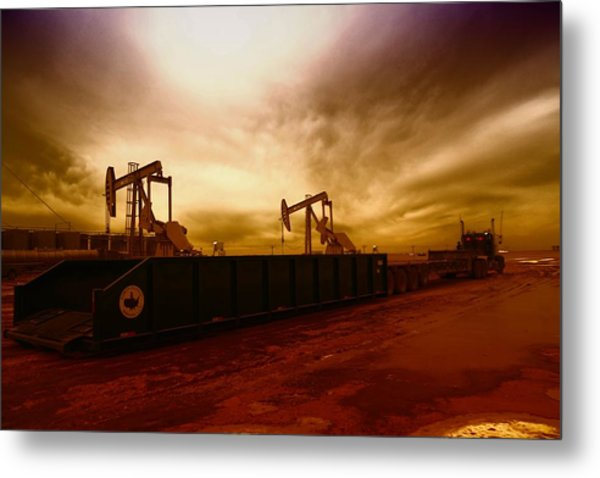 Dropping A Tank Metal Print