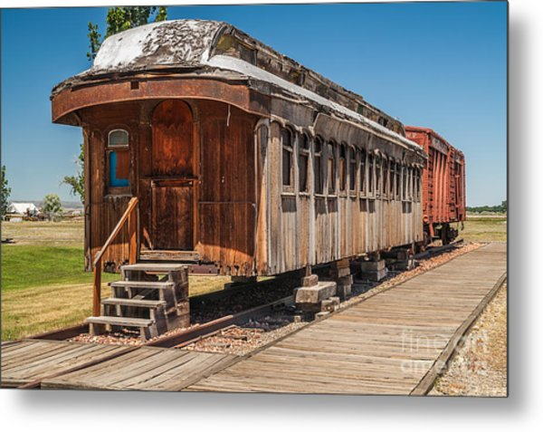 Drover And Cattle Cars Metal Print