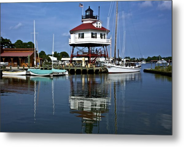 Drum Point Light House Metal Print