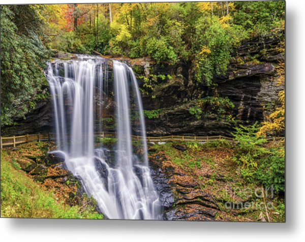 Dry Falls In Fall Metal Print