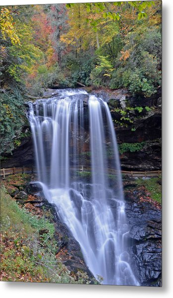 Dry Falls In Highlands North Carolina Metal Print by Mary Anne Baker