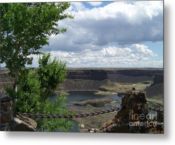 Dry Falls Overlook Metal Print