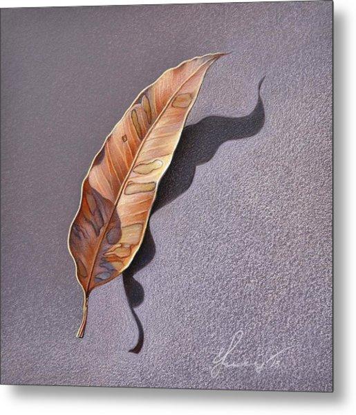 Dry Leaf Metal Print by Elena Kolotusha