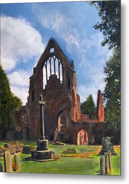 A Space To Cherish Dryburgh Abbey  Metal Print