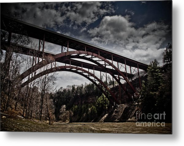 Dual Arched Bridge Metal Print