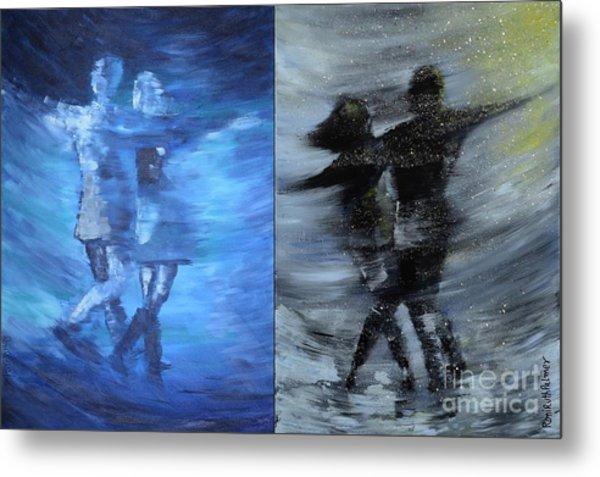 Dual Dancing In The Rain Metal Print by Roni Ruth Palmer