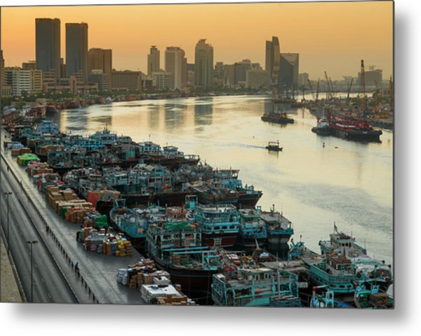 Dubai Creek Metal Print by © Naufal Mq
