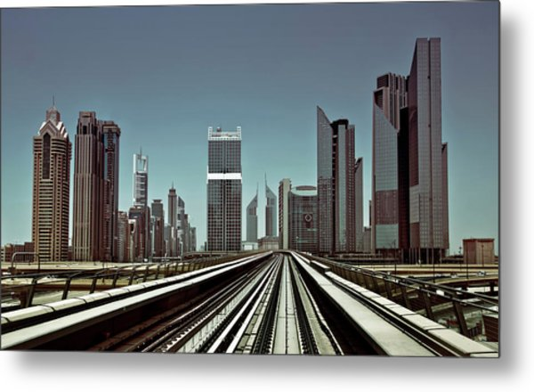 Dubai Metro Metal Print