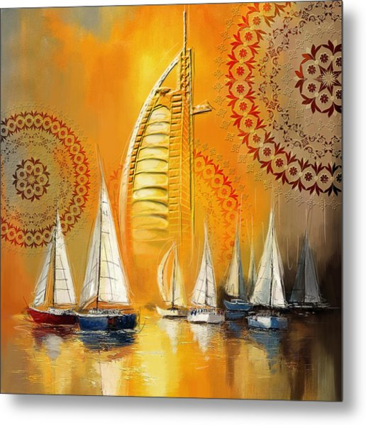 Dubai Symbolism Metal Print