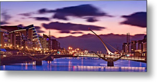 Metal Print featuring the photograph Dublin Docklands At Dawn / Dublin by Barry O Carroll