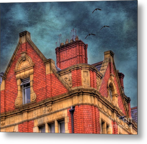 Dublin House Roof Top Metal Print