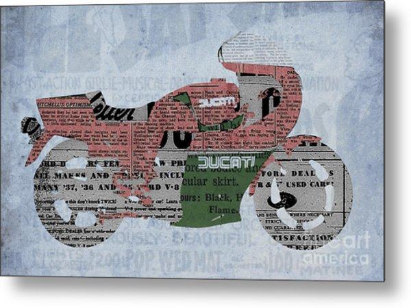 Ducati 900 1983 - Old Newspaper Metal Print
