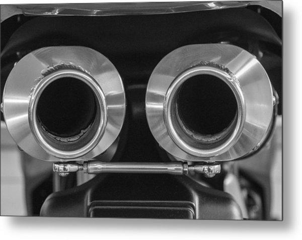 Ducati Twin Exhaust Metal Print