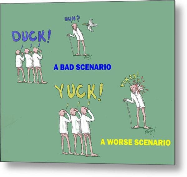 Duck Yuck Metal Print