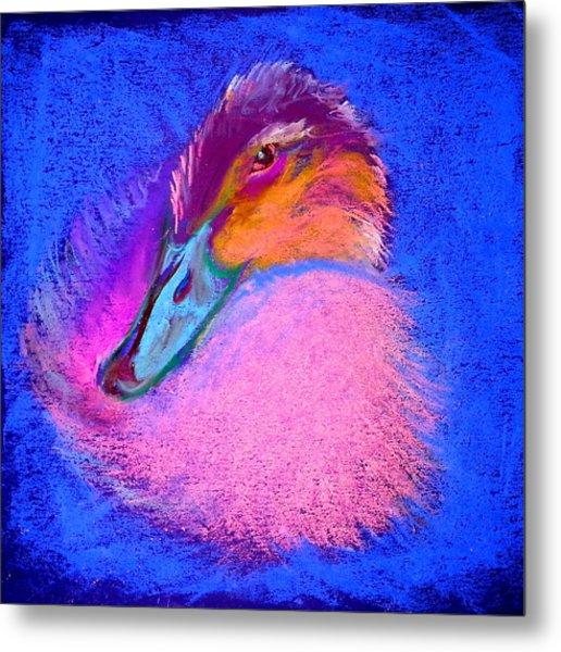 Duckling Pretty In Pink Metal Print