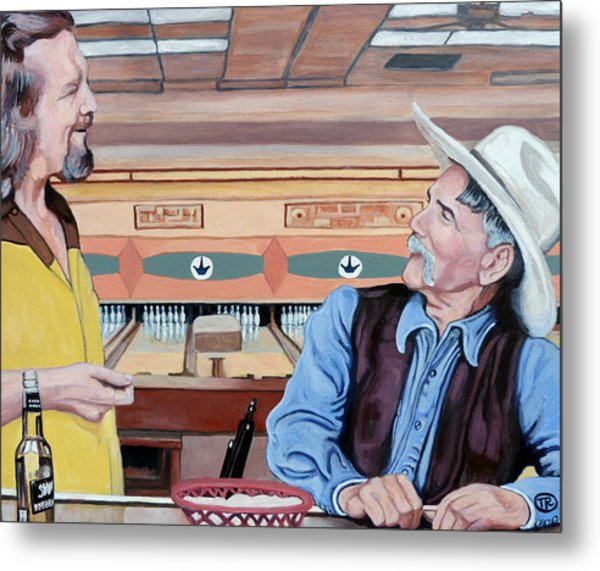Metal Print featuring the painting Dude You've Got Style by Tom Roderick