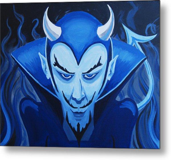 Devil Who Is Blue Metal Print