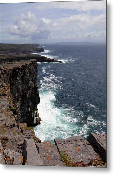 Dun Aengus Cliffs Metal Print