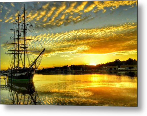 Dunbrody Famine Ship Metal Print