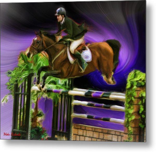 Duncan Mcfarlane On Horse Mr Whoopy Metal Print