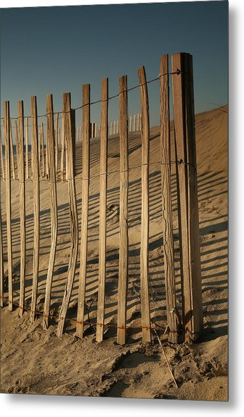 Dune Fences Early Morning II Metal Print by Steven Ainsworth