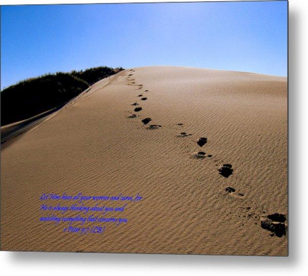 Dune Walk W/scripture Metal Print
