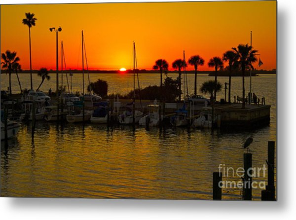 Dunedin Sunset Metal Print