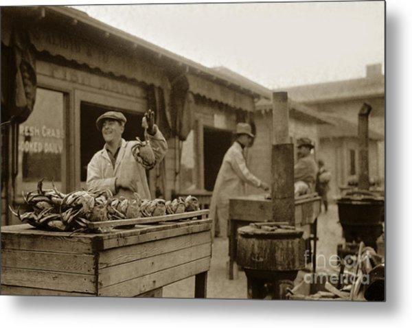 Dungeness Crabs At Fisherman's Wharf At San Francisco California. Circa 1935 Metal Print