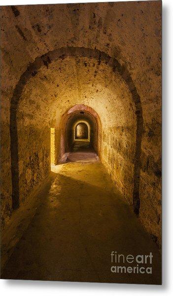 Dungeon At Castillo San Cristobal In Old San Juan Puerto Rico Metal Print