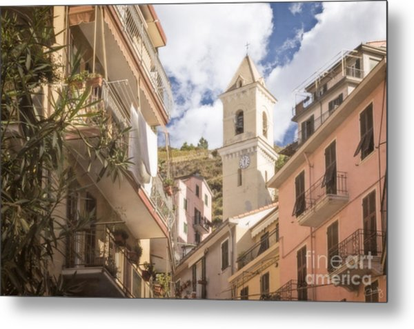 Duomo Bell Tower Of Manarola Metal Print