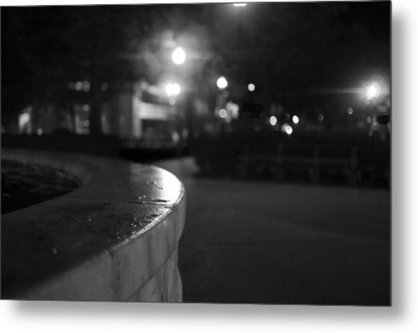 Dupont Circle Fountain Side Metal Print by Michael Williams