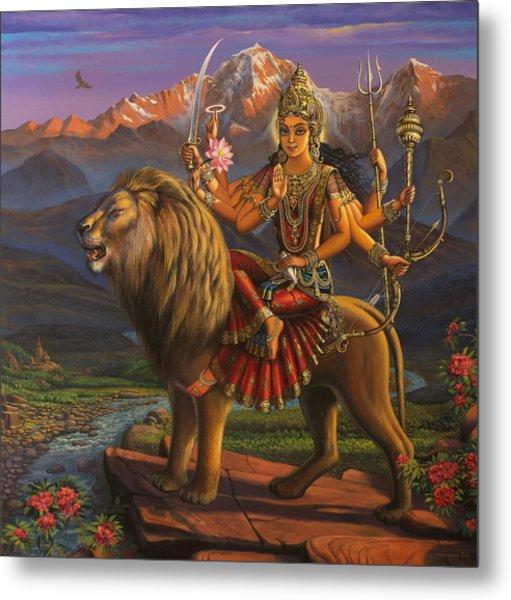 Durga Ma Metal Print