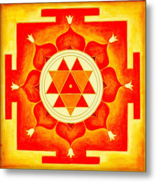 Durga Yantra Is A Powerful Yantra For Transformation Of Consciousness Metal Print