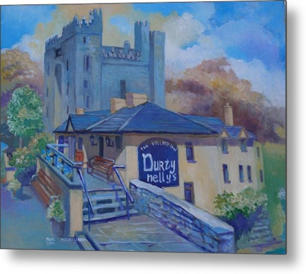Durty Nellys And  Bunratty Castle Co Clare Ireland Metal Print