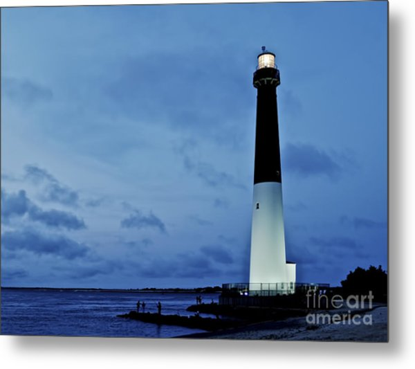 Dusk At Barnegat Lighthouse Metal Print