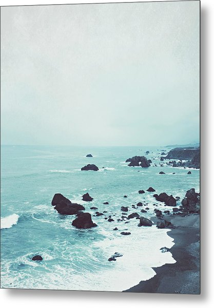 Dusk At The Sea Metal Print